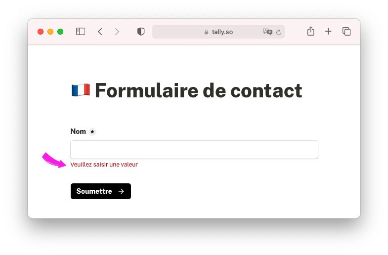 Multiple language support for Tally Forms